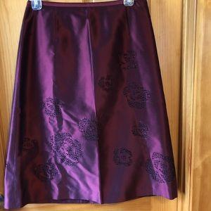 Ann Taylor Silk Skirt Size 6